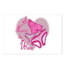 I Love to Wear Panties Postcards (Package of 8)