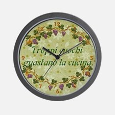 Harvest Moons Italian Proverbs Wall Clock