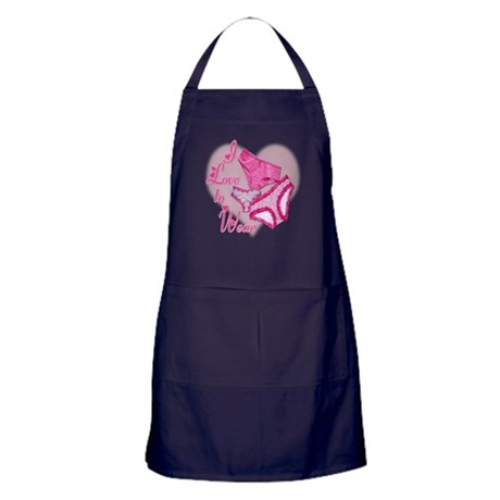 I Love to Wear Panties Apron (dark)