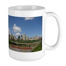 Edmonton Skyline and Bridge on a Sunny Day Mug