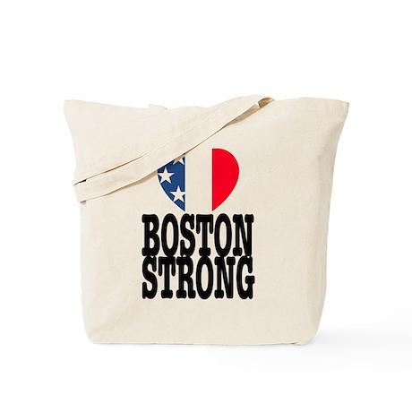 Boston Strong USA Heart Tote Bag