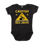 CAUTION BOX JUMPS - BLACK Baby Bodysuit