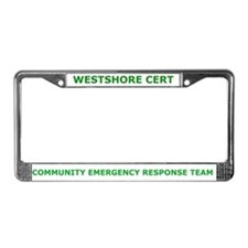 Westshore CERT License Plate Frame