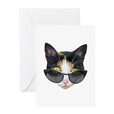 Cat Sunglasses Greeting Card