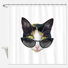 Cat Sunglasses Shower Curtain