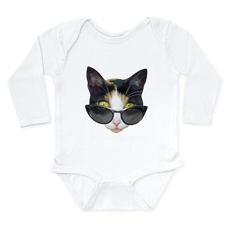 Cat Sunglasses Long Sleeve Infant Bodysuit