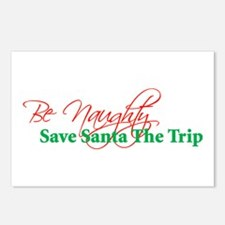 Be Naughty Save Santa The Tri Postcards (Package o