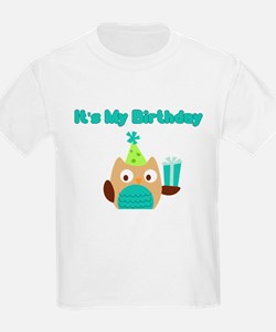 ITS MY BIRTHDAY TEAL OWL T-Shirt