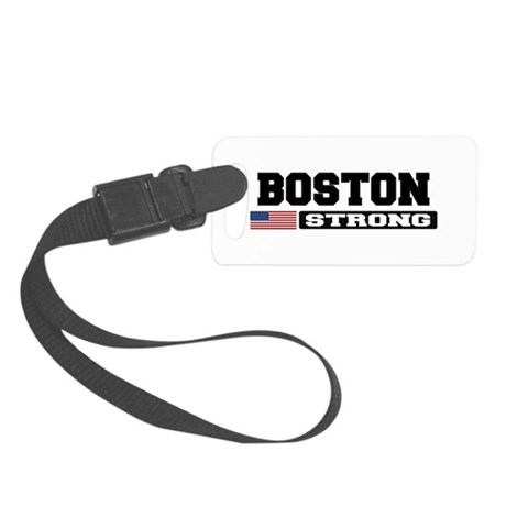 BOSTON STRONG U.S. Flag Luggage Tag