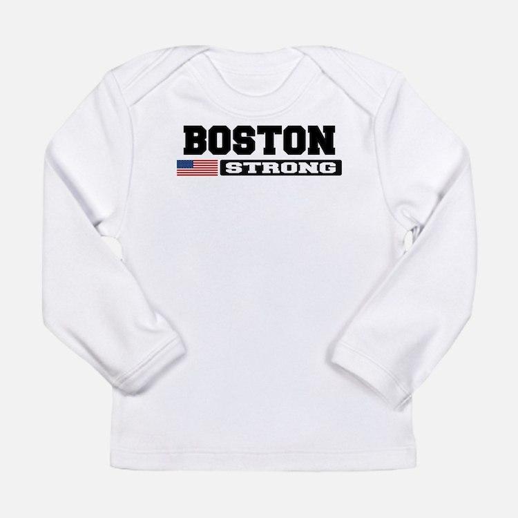 BOSTON STRONG U.S. Flag Long Sleeve T-Shirt