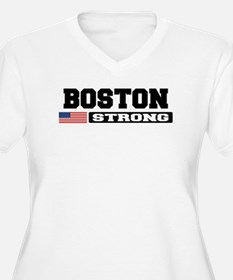BOSTON STRONG U.S. Flag Plus Size T-Shirt