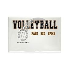 Volleyball: Pass Set Spike Rectangle Magnet
