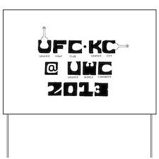 Ukulele Fight Club @ UWC 2013 Black Yard Sign
