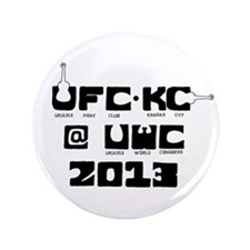 "Ukulele Fight Club @ UWC 2013 Black 3.5"" Button"