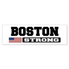 BOSTON STRONG U.S. Flag Bumper Bumper Sticker