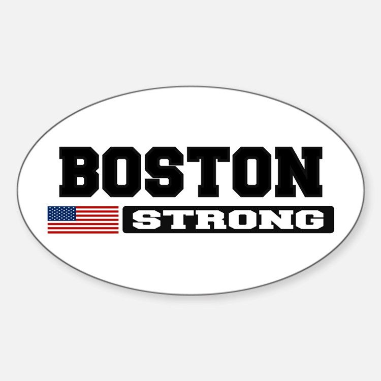 BOSTON STRONG U.S. Flag Decal