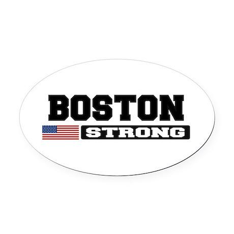 BOSTON STRONG U.S. Flag Oval Car Magnet