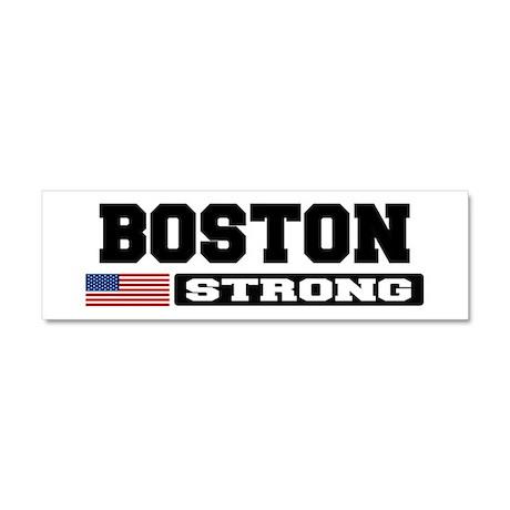 BOSTON STRONG U.S. Flag Car Magnet 10 x 3
