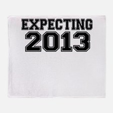 EXPECTING 2013 Throw Blanket