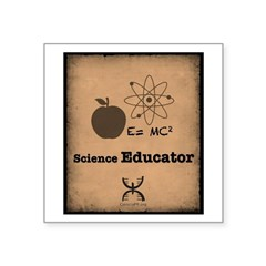 Science Educator Square Sticker 3