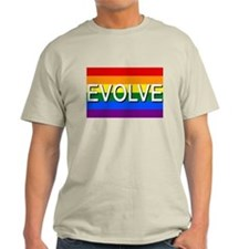 Evolve with GBLT Pride Flag T-Shirt