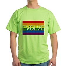 Evolve with GBLT Pride Flag T-Shirt