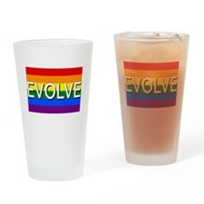 Evolve with GBLT Pride Flag Drinking Glass
