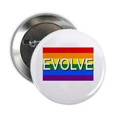 """Evolve with GBLT Pride Flag 2.25"""" Button (10 pack)"""