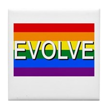 Evolve with GBLT Pride Flag Tile Coaster