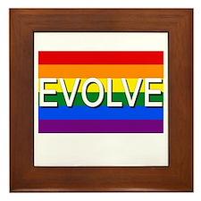 Evolve with GBLT Pride Flag Framed Tile