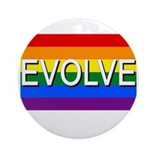 Evolve with GBLT Pride Flag Ornament (Round)