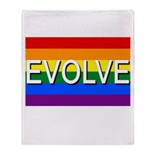 Evolve with GBLT Pride Flag Throw Blanket