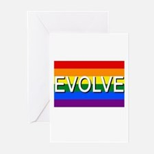 Evolve with GBLT Pride Flag Greeting Cards (Pk of