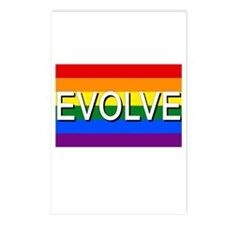 Evolve with GBLT Pride Flag Postcards (Package of