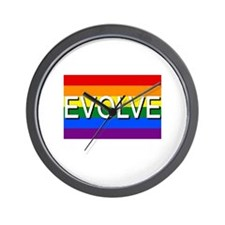 Evolve with GBLT Pride Flag Wall Clock