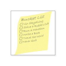 Bucket List Sticker