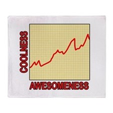 Awesomeness Graph Throw Blanket