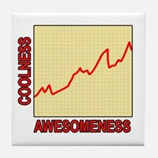 Awesomeness Graph Tile Coaster