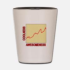 Awesomeness Graph Shot Glass