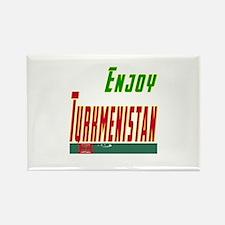 Enjoy Turkmenistan Flag Designs Rectangle Magnet