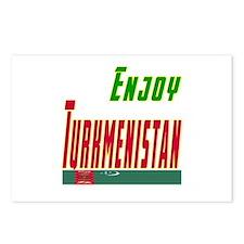 Enjoy Turkmenistan Flag Designs Postcards (Package