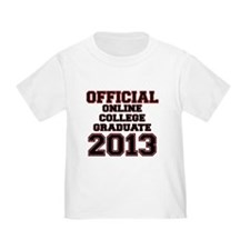 OFFCIAL ONLINE COLLEGE GRADUATE 2013 RED T-Shirt