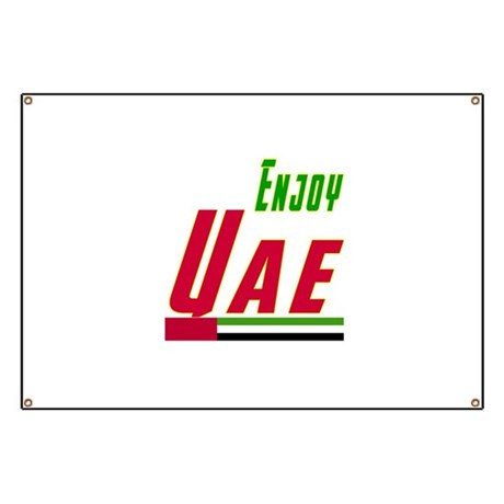 Enjoy UAE Flag Designs Banner