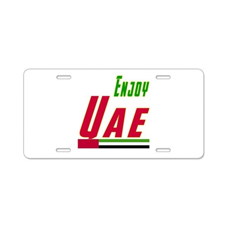Enjoy UAE Flag Designs Aluminum License Plate
