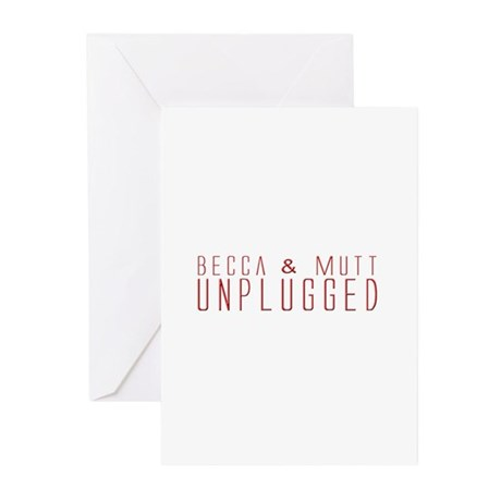 Becca & Mutt Unplugged Greeting Cards (Pk of 10)