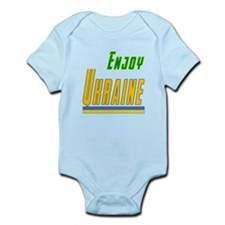 Enjoy Ukraine Flag Designs Infant Bodysuit