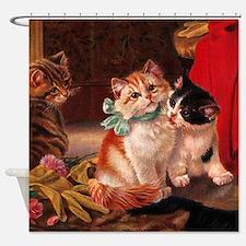 Vintage Kitten Shower Curtain