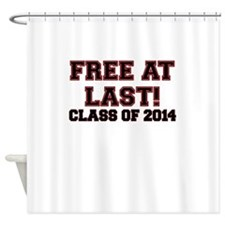 FREE AT LAST CLASS OF 2014 RED Shower Curtain