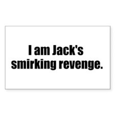 Jack's Smirking Revenge Rectangle Decal