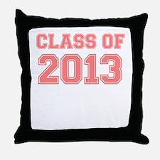 CLASS OF 2013 VARSITY PINK Throw Pillow